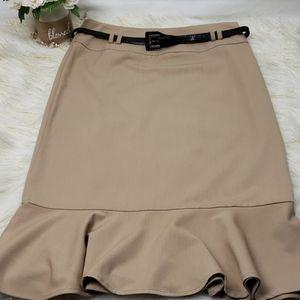 East 5th Ruffle Flare Bottom Skirt